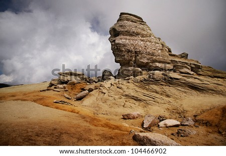 Shaped rocks in mountains - stock photo