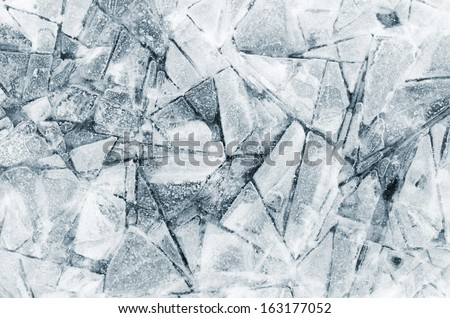 shapes in ice detail - stock photo