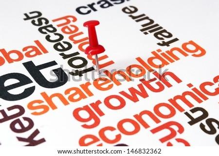 Shareholding word cloud - stock photo