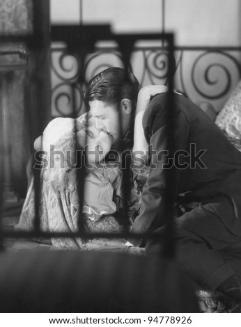 Sharing an intimate moment - stock photo