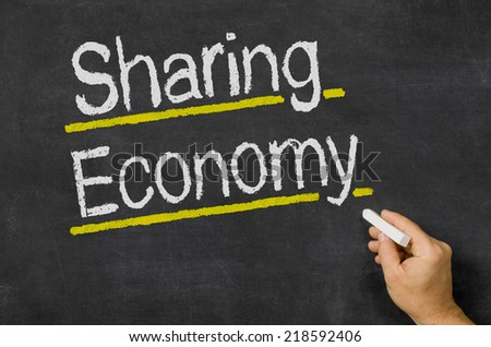 Sharing Economy - stock photo
