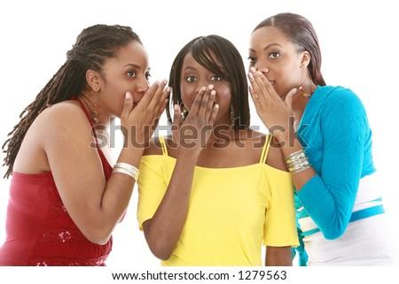 Sharing secrets - stock photo