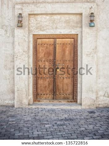 Sharjah Arabic Door - stock photo
