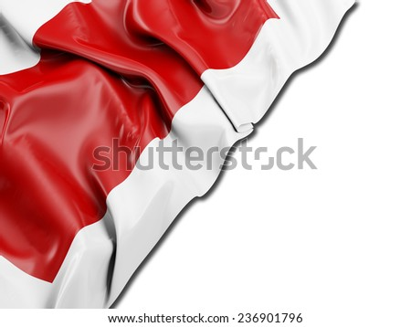 Sharjah Flag with white - stock photo