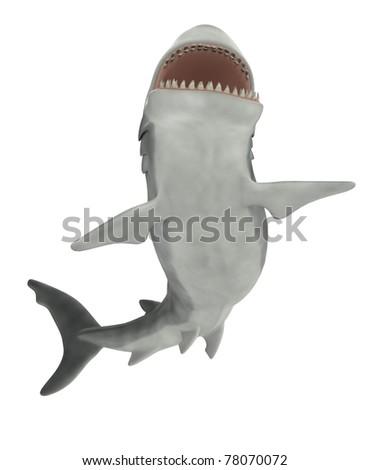 shark jump attack 2 - stock photo