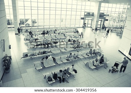 Sharm El Sheikh, EGYPT �¢?? JUNE 12: waiting room at the airport on JUNE 12, 2015, in Sharm El Sheikh, Egypt - stock photo