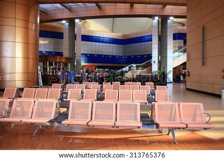 Sharm El Sheikh, EGYPT   JUNE 12: waiting room at the airport on JUNE 12, 2015, in Sharm El Sheikh, Egypt - stock photo