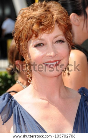 Sharon Lawrence at the 61st Annual Primetime Creative Arts Emmy Awards. Nokia Theatre, Los Angeles, CA. 09-12-09 - stock photo