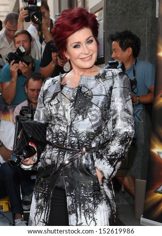 Sharon Osbourne arriving for the X Factor 2013 Launch, London. 29/08/2013 - stock photo