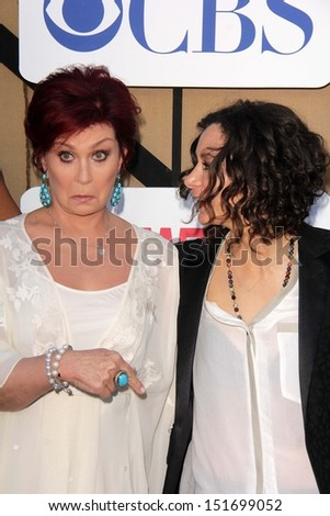 Sharon Osbourne, Sara Gilbert at the CBS, Showtime, CW 2013 TCA Summer Stars Party, Beverly Hilton Hotel, Beverly Hills, CA 07-29-13 - stock photo