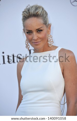Sharon Stone at amfAR's 20th Cinema Against AIDS Gala at the Hotel du Cap d'Antibes, France May 23, 2013  Antibes, France
