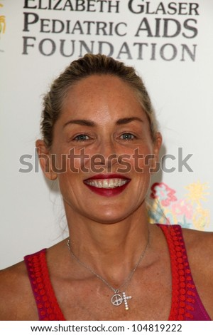 "Sharon Stone at the Elizabeth Glaser Foundation's ""A Time for Heroes"" Celebrity Picnic, Wadsworth Theater, Los Angeles, CA 06-03-12"