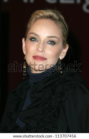 "Sharon Stone at the World Premiere of ""Alpha Dog"". Arclight Hollywood, Hollywood, CA. 01-03-07"