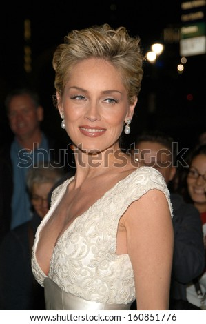 Sharon Stone the host of the Princess Grace Foundation's 2004 Awards Gala held at Cipriani's 42nd St October 27, 2004