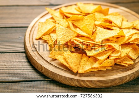 Concept Bad sharp nachos chips concept bad stock photo royalty free