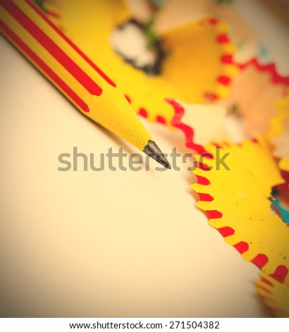 sharp of a pencil. close-up, shallow depth of field.  - stock photo