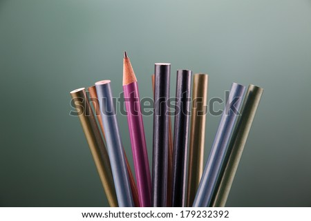 sharp pencil standing out from others