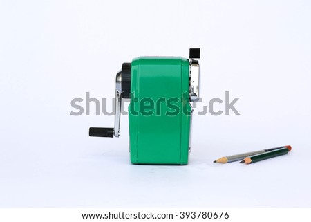 sharpener of pencil isolated on white background