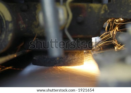 sharpening stone on chopper