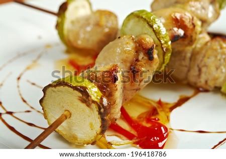 Dry-Fried Pork With Zucchini Recipe — Dishmaps