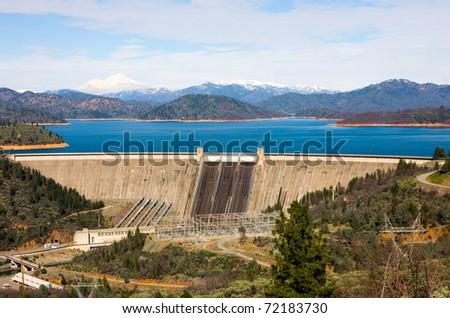 Shasta Dam - stock photo