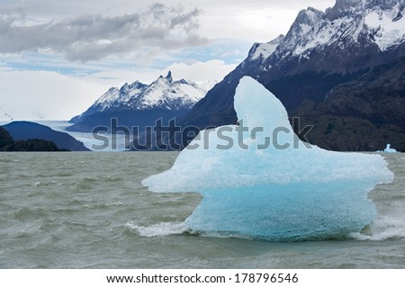 Shatter of iceberg - stock photo