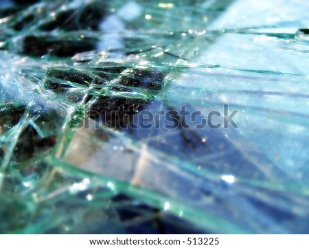 Shattered Windshield - stock photo