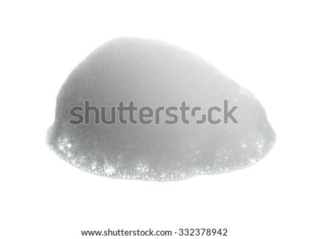 Shave foam (cream)  isolated on white - stock photo