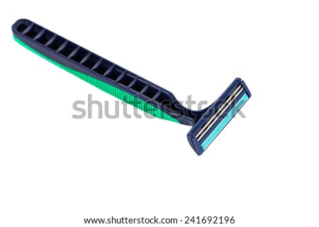 shaving razor isolated on a white background  - stock photo