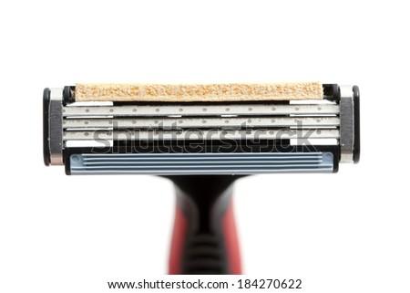 shaving razor on a white background - stock photo