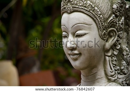 She is made of stucco in Thai literature skilled natives in Thailand - stock photo