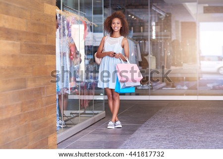 She loves a good sale - stock photo