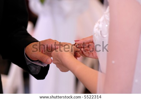 She put a ring on him - stock photo