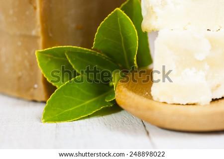 shea butter natural moisturizer - stock photo