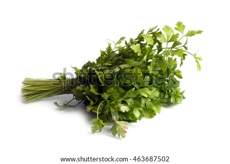 sheaf of ripe parsley as part of the daily food