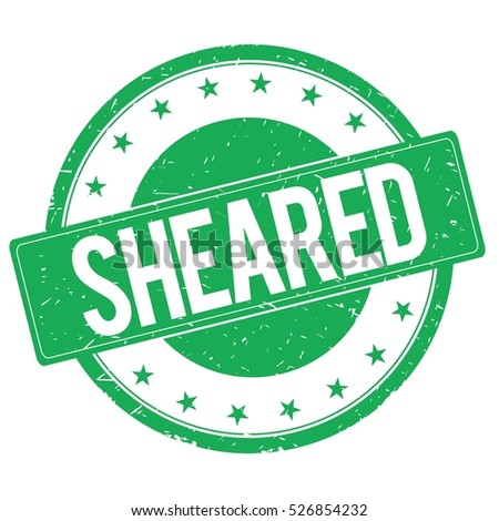 SHEARED stamp sign text word logo green.