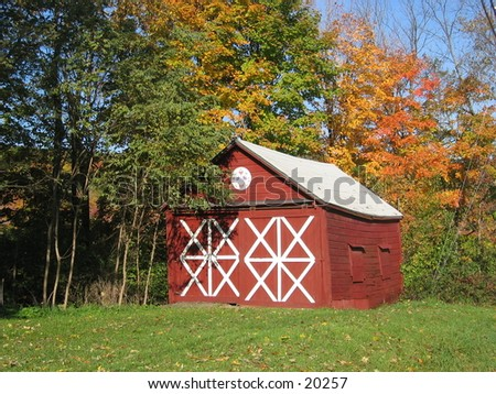 Shed in upstate NY. - stock photo