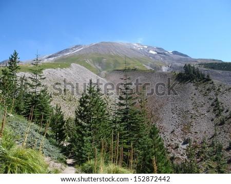 Sheep Canyon - Mt. St. Helens - stock photo