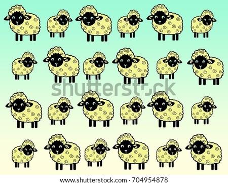 Sheep Wallpaper Cute Animal Farm Background Black Face Cartoon