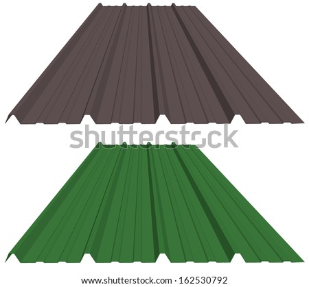 Sheet Metal Roofing - stock photo