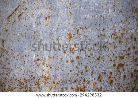 Sheet metal, rust corrosion old textured piece of iron for background - stock photo