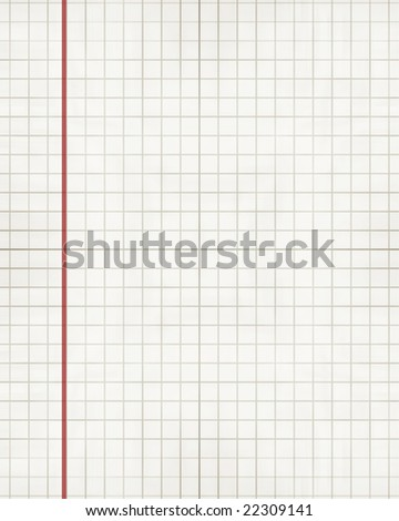 sheet of office paper with a red line