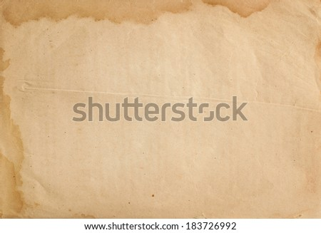 sheet of old paper isolated  - stock photo