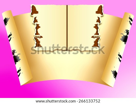 Sheet of paper for an inscription on a lilac background - stock photo
