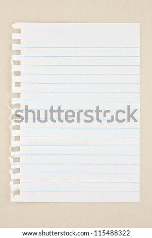 sheet of paper on the seamless texture - stock photo