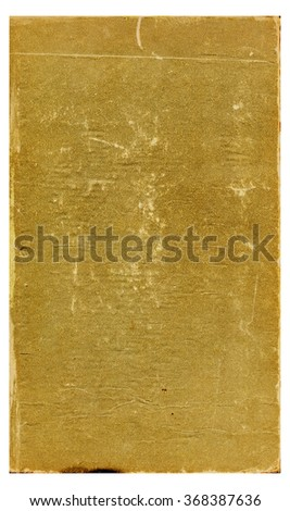 Sheet of the old shabby, crumpled paper with a grainy texture - stock photo