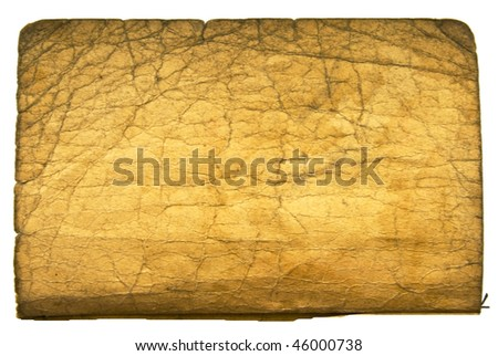 sheet of vintage book isolated on white background - stock photo