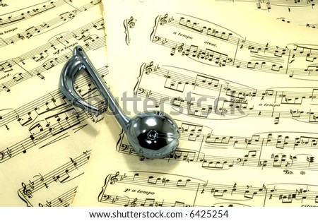 Sheetmusic With Musical Note - Sheetmusic Background