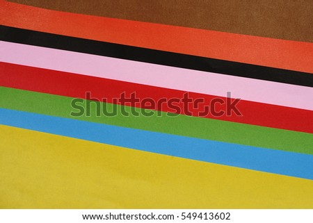 Stack Of Colored Paper