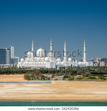 Sheik Zayed Grand Mosque Abu Dhabi - stock photo